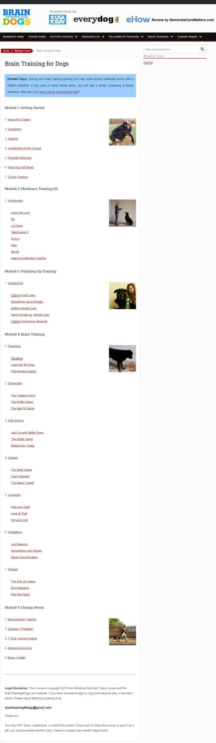 Brain Training for Dogs Download Page